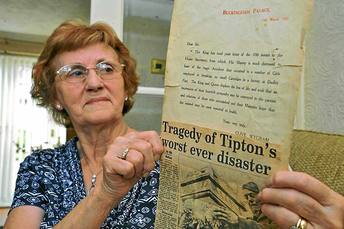 Doreen Rushton from Tipton. Her aunt, Lizzie Williams, 13, was killed in the blast
