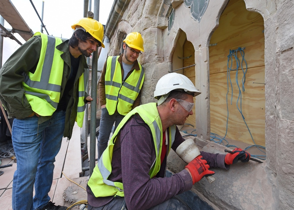 Painstaking Masonry Carried Out On 160 Year Old Church