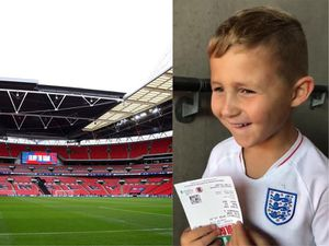 Oscar Smirthwaite experiences Wembley for the first time
