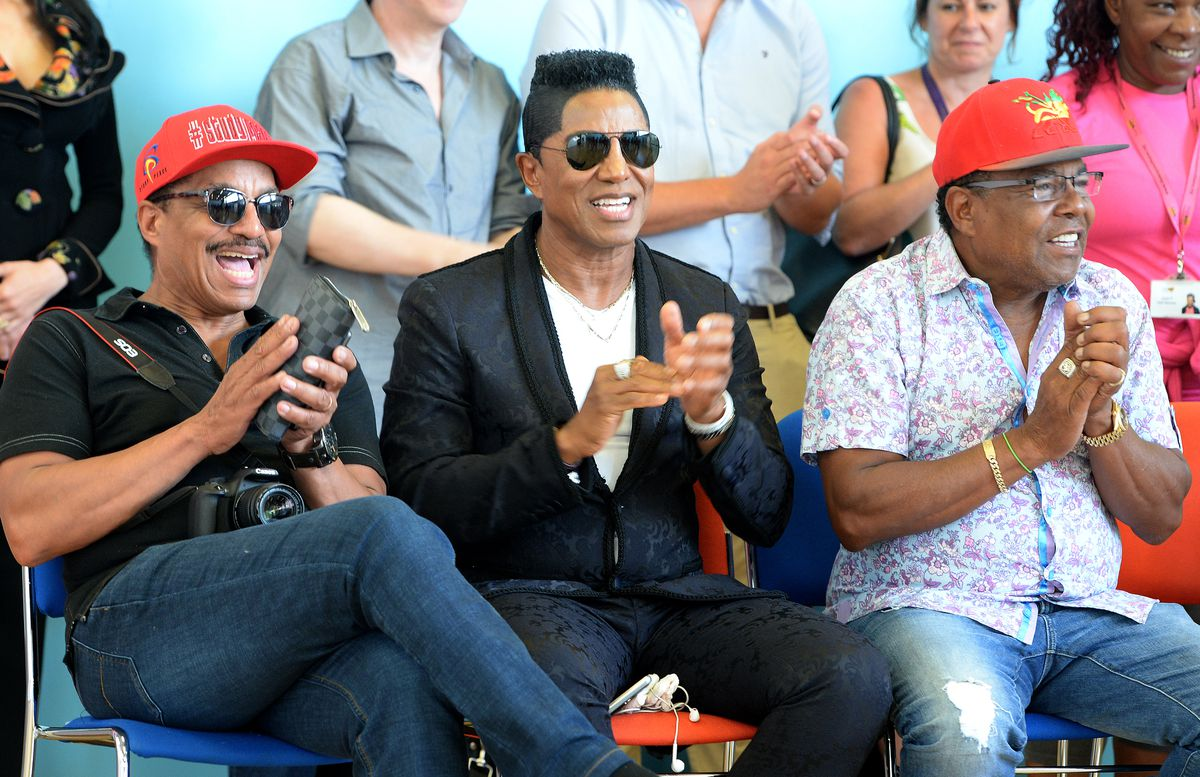 Marlon, Jermaine and Tito enjoy the dance show