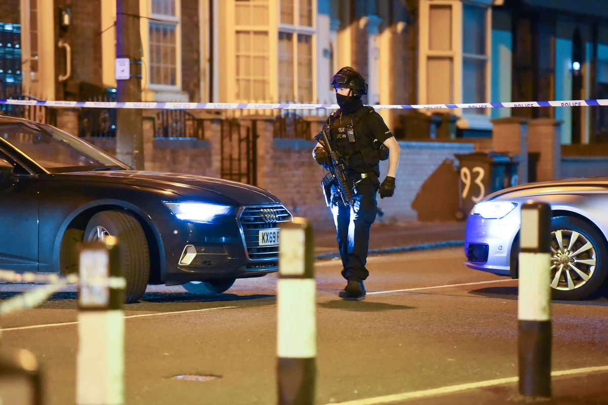 St Paul's Road was cordoned off. Photo: SnapperSK