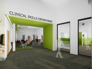 An artist impression of how the new health and social care training centre will look