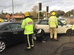 Christmas dinner delayed as two-car smash shuts Wolverhampton Road