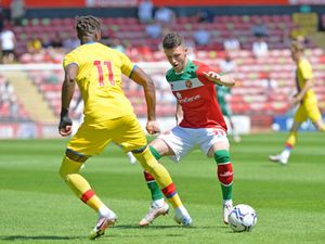 SPORT COPYRIGHT TIM STURGESS EXPRESS AND STAR...... 17/07/2021.....   Walsall v Crystal Palace friendly. Pictured, Rory Holden....