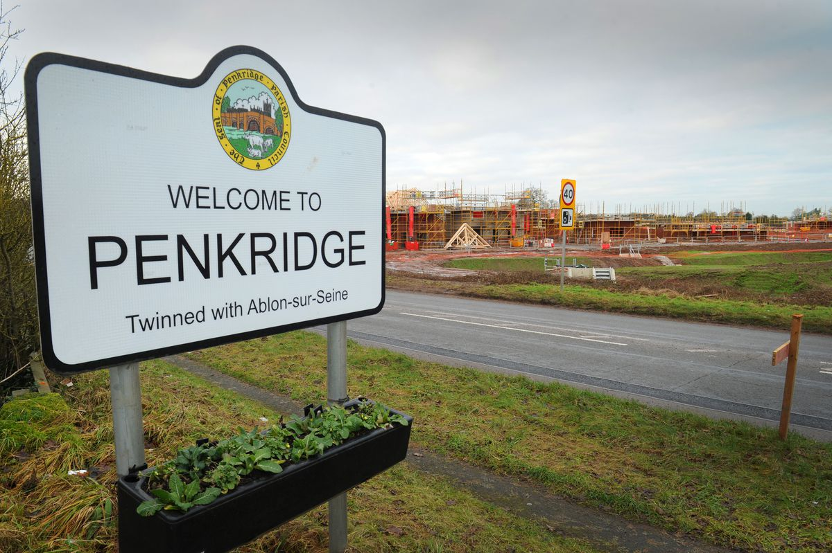 Homes being built off the A449, at Penkridge