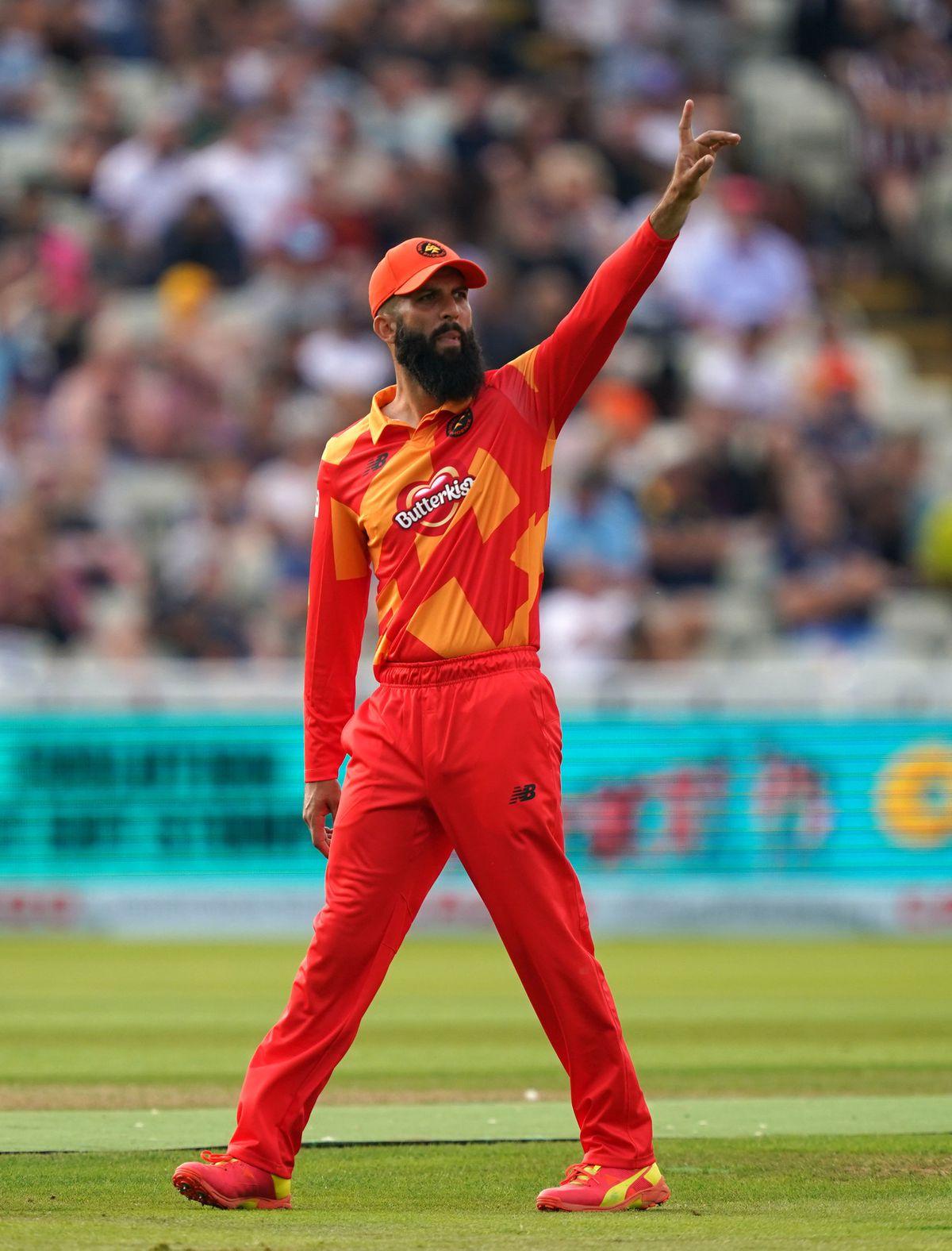 Birmingham Phoenix's Moeen Ali salutes the crowd