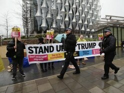 Protesters urge PM to cancel meeting with 'racist bigot' Donald Trump