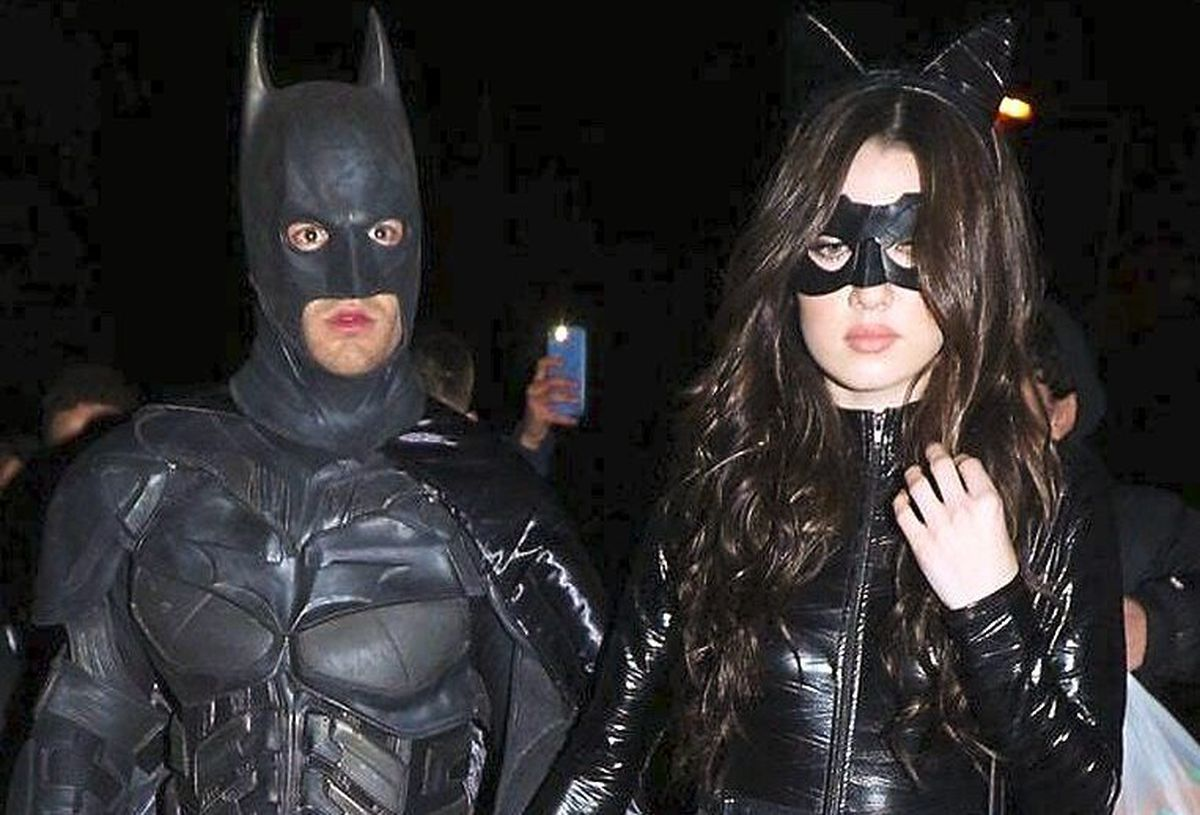 Liam Payne arrives at the Halloween party with Maya Henry (Yui Mok/PA)