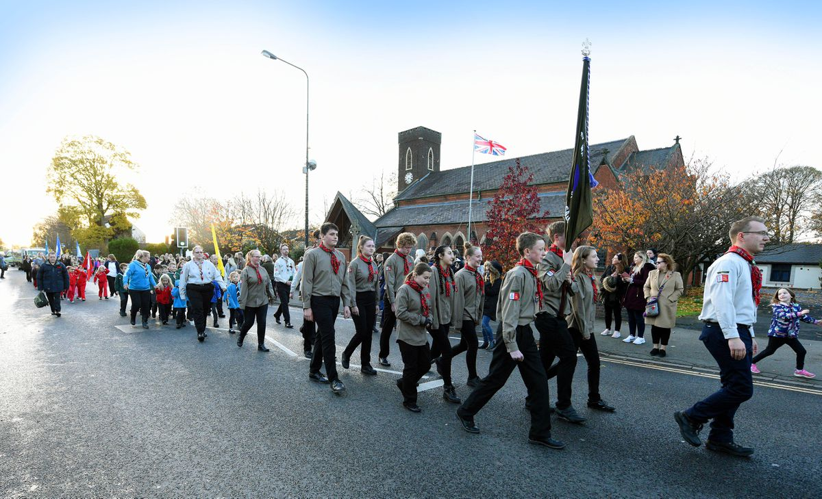 Walsall Wood remembrance service