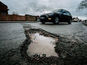potholes stock