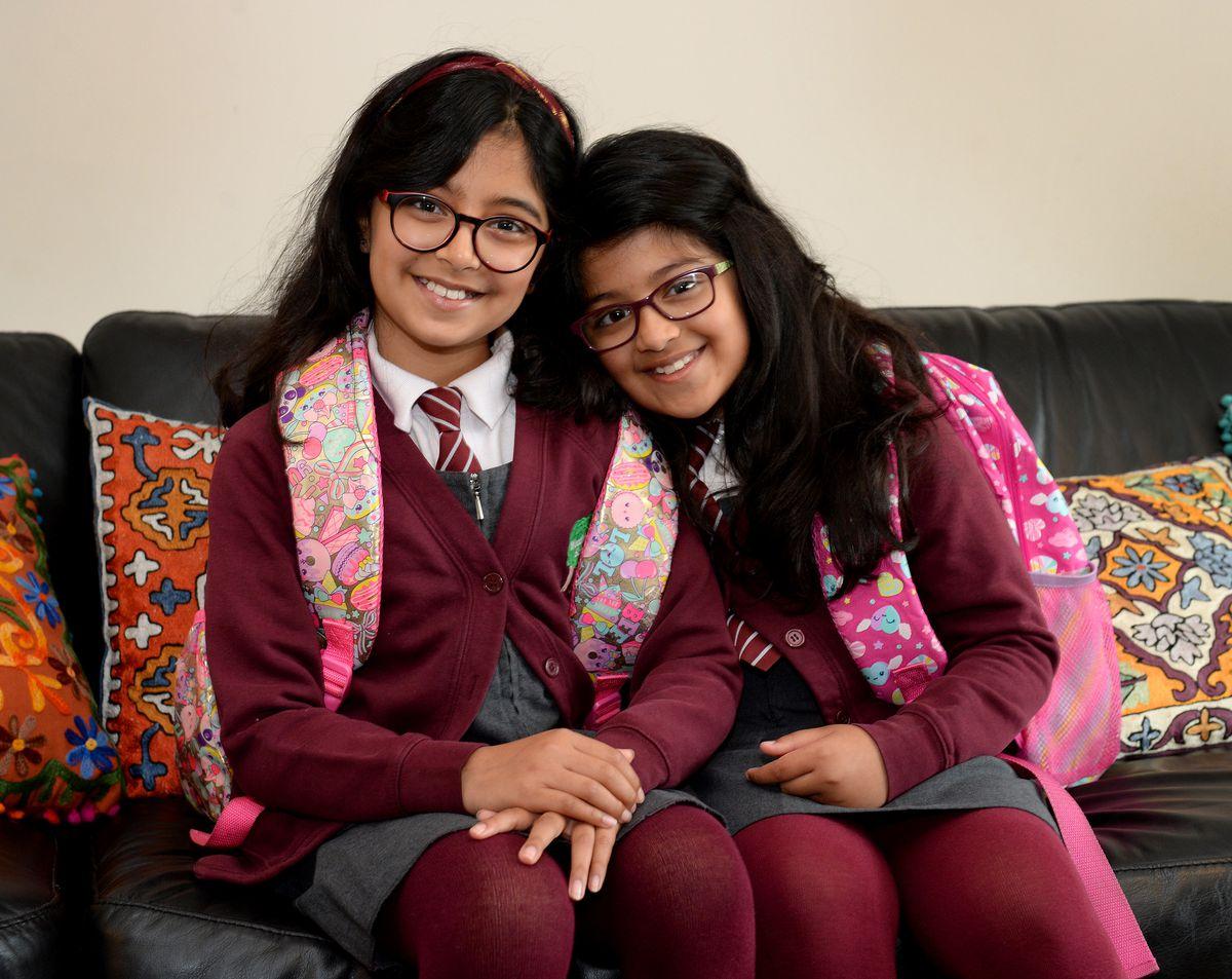 Sisters Aditi and Anisha Mandal