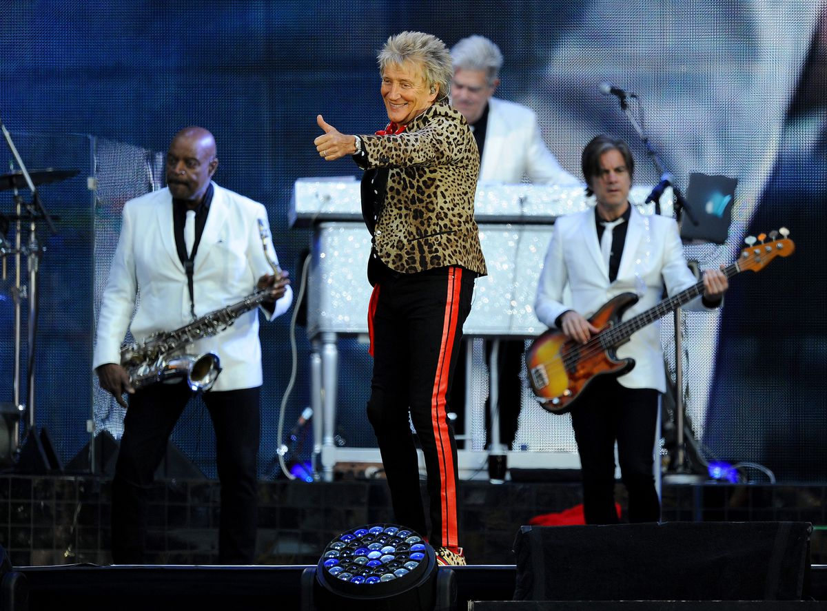 Sir Rod Stewart performed at Wolves' Molineux Stadium. Picture: Tim Thursfield