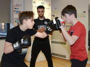 Students at Aldersley High School take part in the InPower programme under the guidance of Daryl Chambers