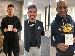 Wolves stars find charity art a doodle