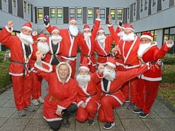 Russells Hall Hospital staff take part in Santa dash