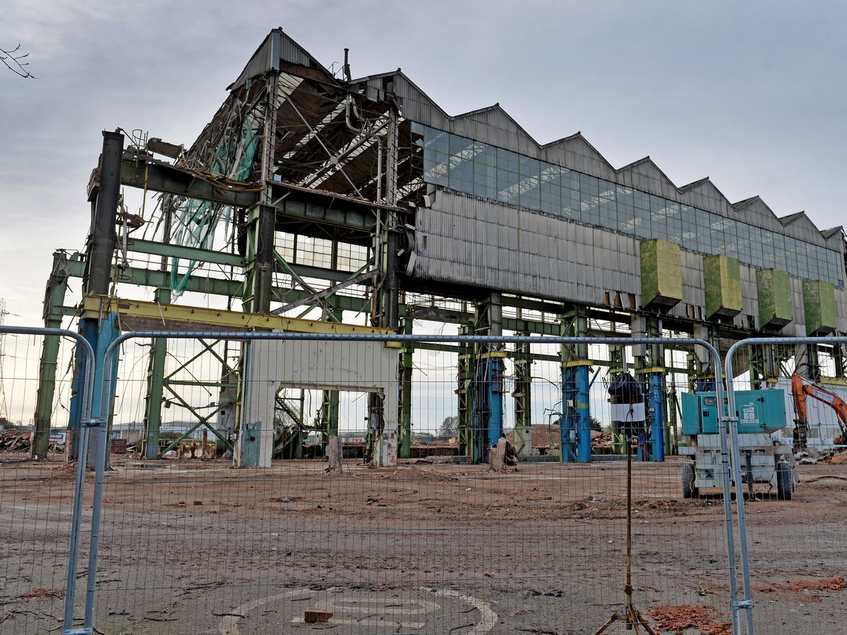 Work has started to demolish the General Electric building on the Lichfield Road, Stafford to make way for housing