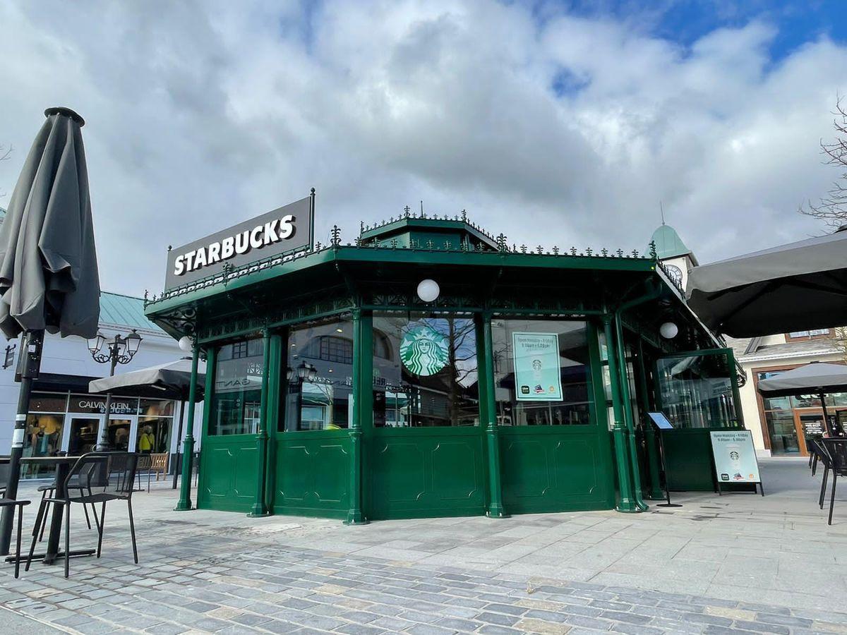 The new Starbucks store