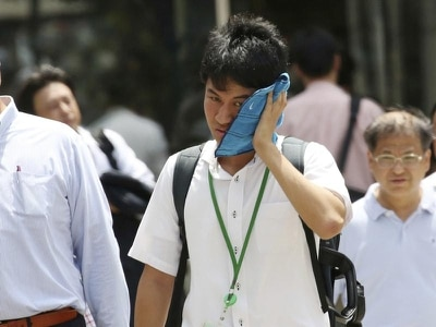 Temperatures reach record high as Japanese heatwave continues