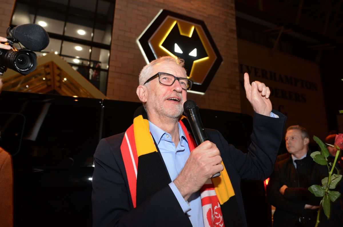 Mr Corbyn said it was 'great to be alongside Billy Wright'