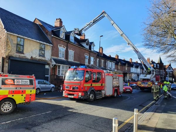 Crews at the scene in High Street, Smethwick. Photo: West Midlands Fire Service