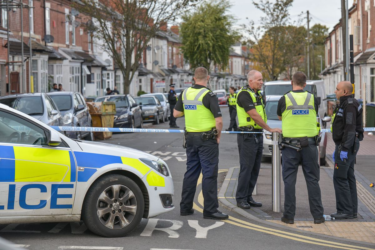 Police cordon off roads as an investigation got under way yesterday. Picture: @SnapperSK