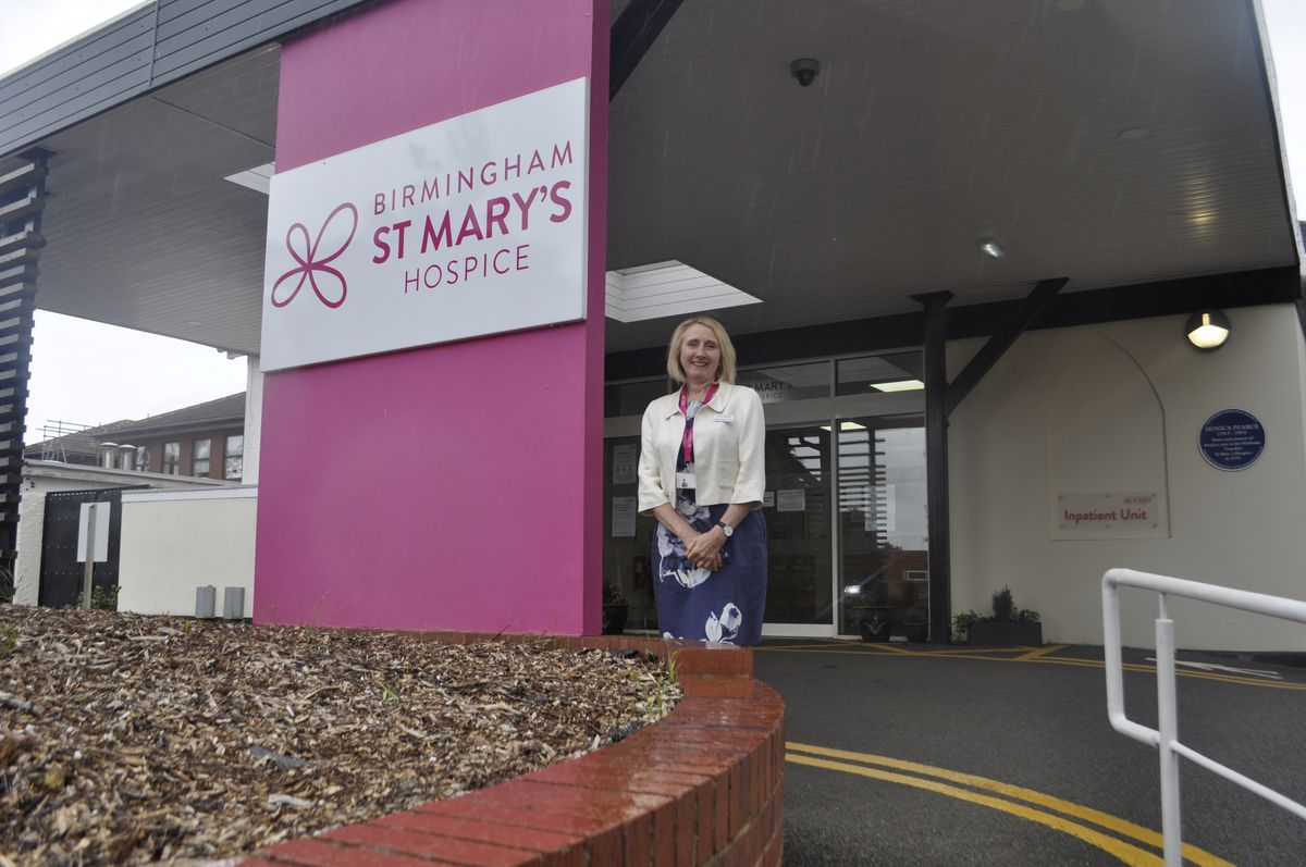 Penny Venables, Chief Executive, Outside The Hospice In Selly Park