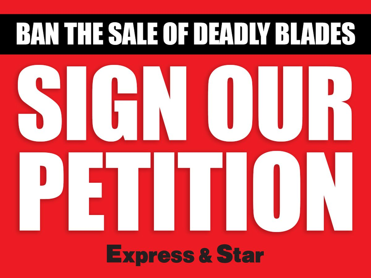Follow the link above to sign our petition calling for a ban on the sale of deadly blades