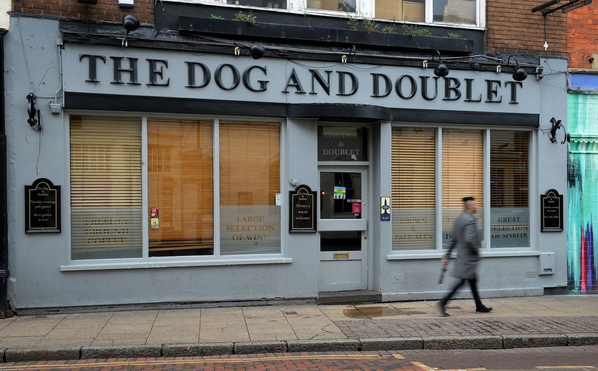 The Dog and Doublet pub is up for sale