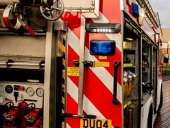 Fire crews tackle bungalow blaze near Bridgnorth