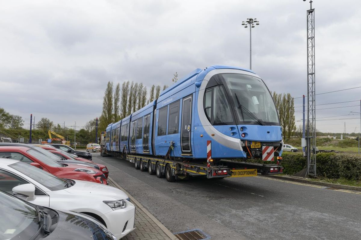 West Midlands Metro has taken delivery of the first of eight new state-of-the-art trams