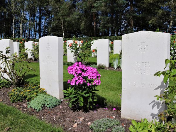 Graves at Cannock Chase cemetery