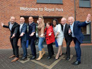 Scott, Brett and Roy Bernard, Beverley Momenabadi, Zee Russell, Sandra Samuels, Pat McFadden and Steve Bull at the opening