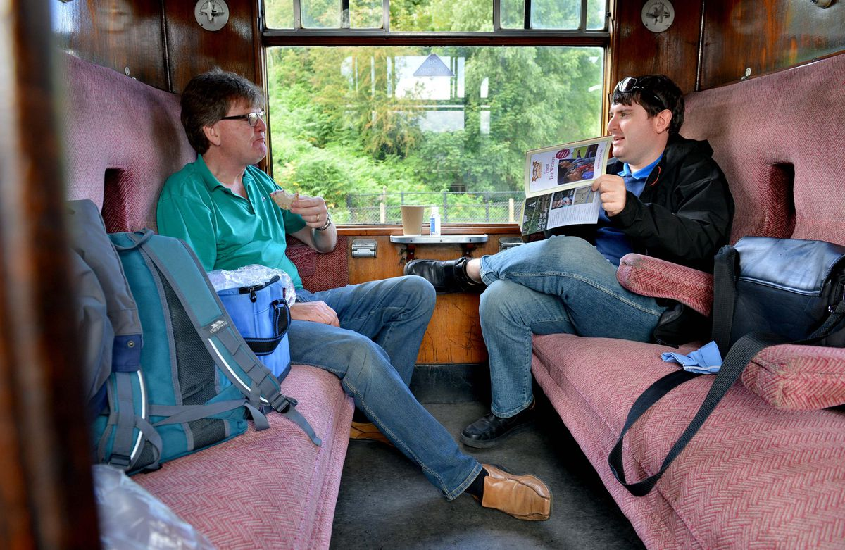Chris and Ben Garside from Preston at the Severn Valley Railway