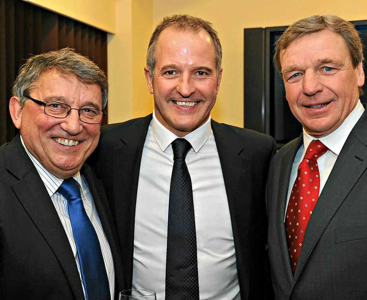 Graham Taylor with Steve Bull and Graham Turner at the Wolverhampton Wanderers Hall of Fame 2011 evening