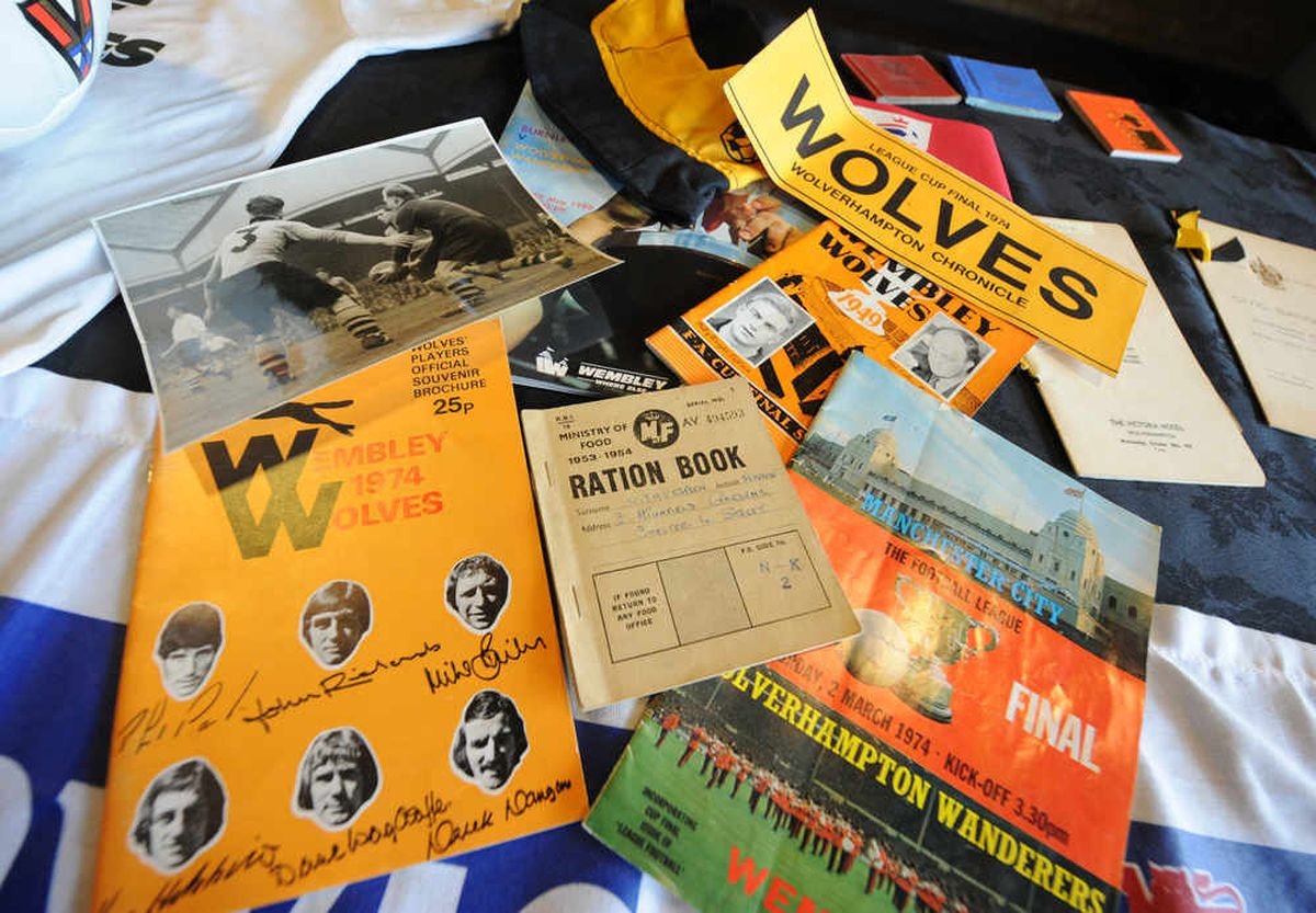 Items on display during the Wolves memorabilia event