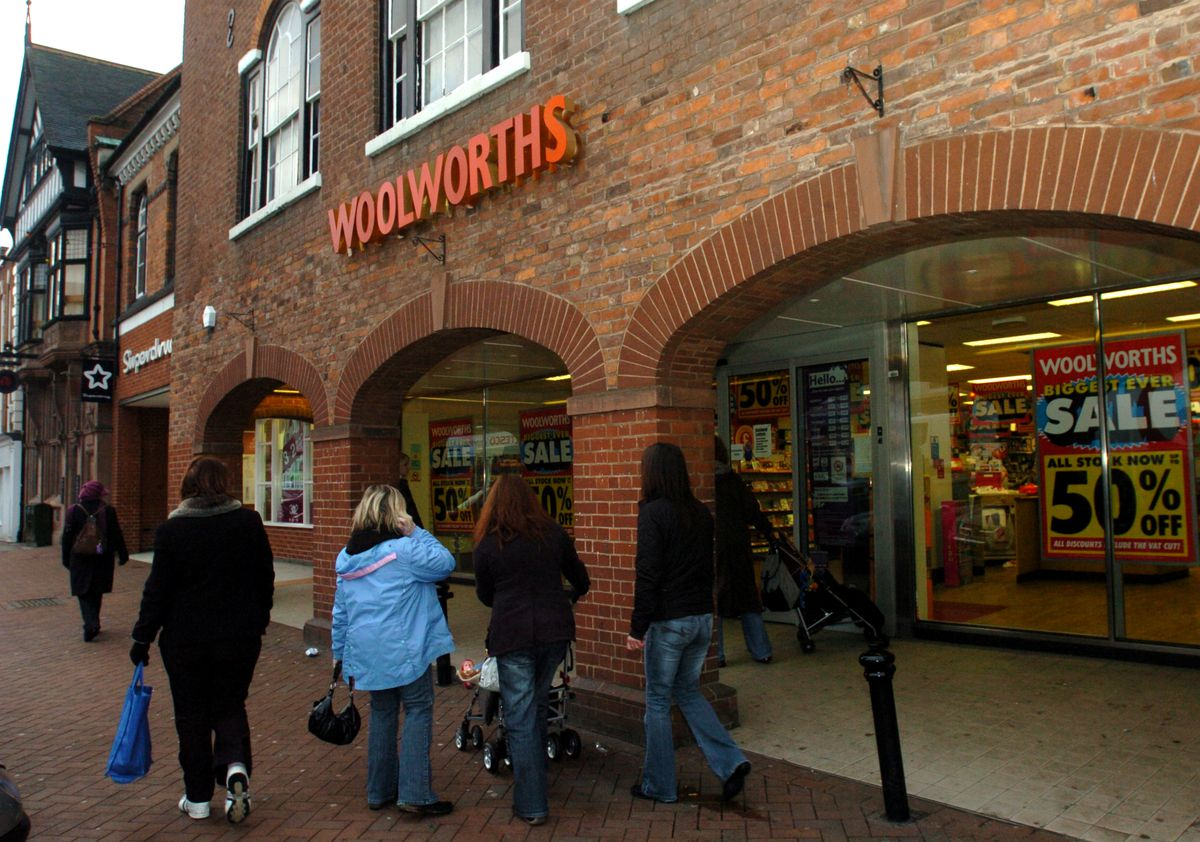 Woolworths in Bridgnorth shortly before it closed