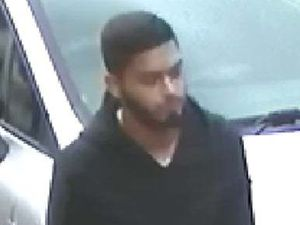 Police would like to speak to this man who is believed to have collected cash from a con victim