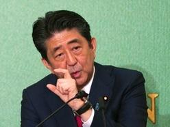 Japan's Shinzo Abe re-elected as party head