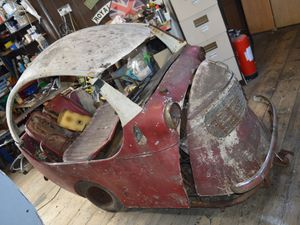 The shell of the Collier Car made 50 years ago