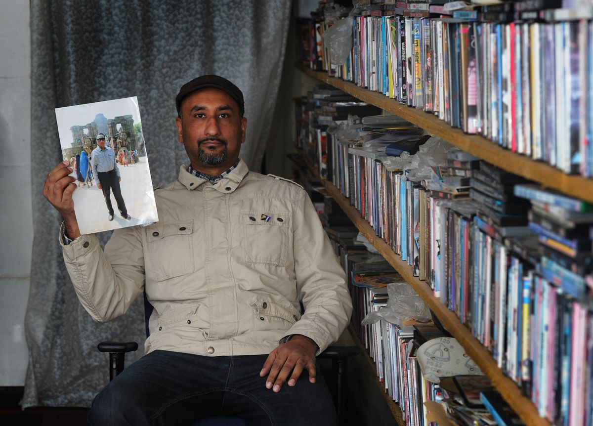 Deepak Singh Bahara, of Wolverhampton, with his father's video collection