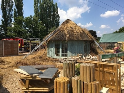 Garden centre forced to close after fire breaks out in outbuilding