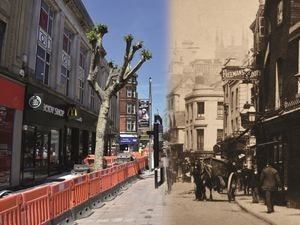 Dudley Street looked busier in the days of horses and carts