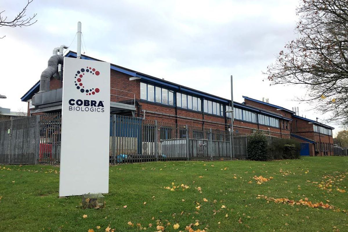 The Cobra Biologics works at Keele in Staffordshire. Picture: Keele University