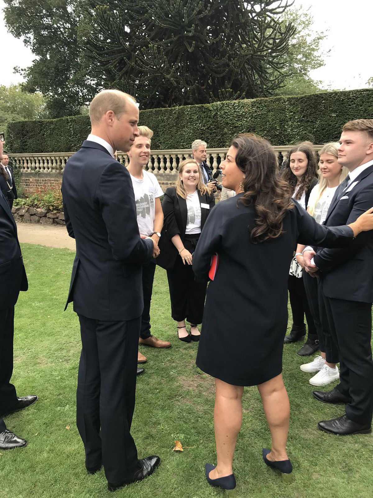 Prince William meets members of the Holocaust Educational Trust