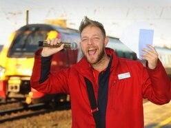 Singing Postman 'Feeling Good' for final