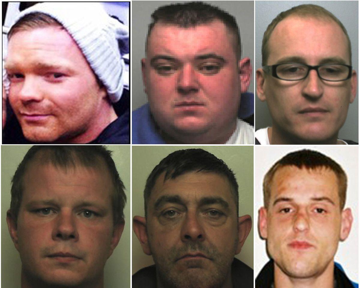 Clockwise from top left, Scott Kenny, Richard Menzies, Jamie Sleigh, David Perkins, Jason Bayley and Jamie Wilson