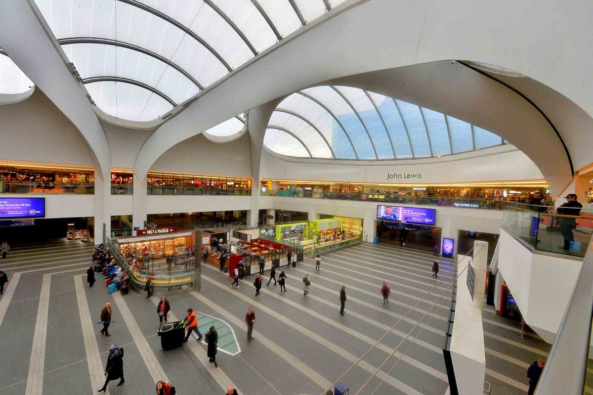 John Lewis sits above New Street Station which attracts over 20m visitors a year