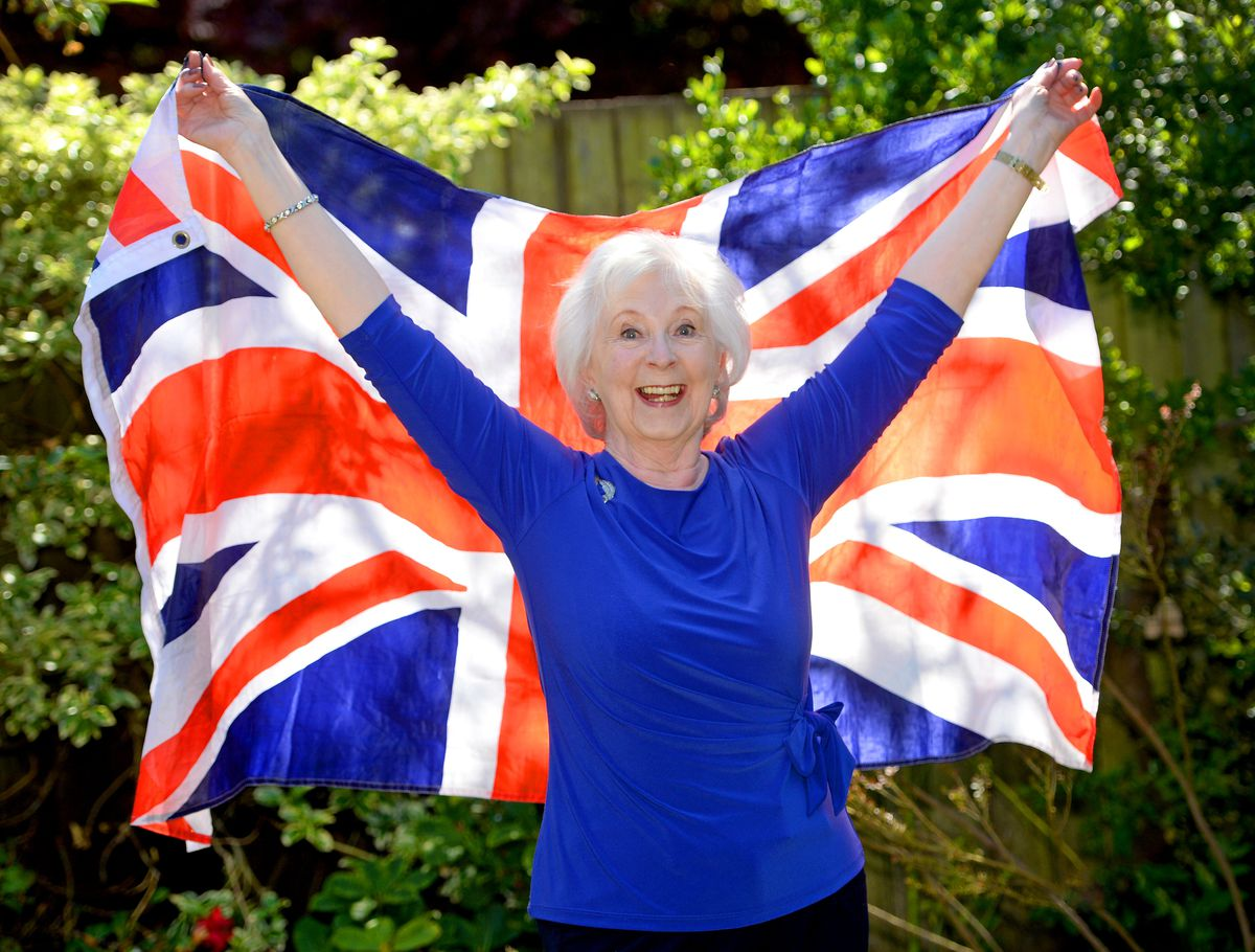 Lynda Jones from The Paddock, Wolverhampton, was born on VE Day and is celebrating her 75th birthday