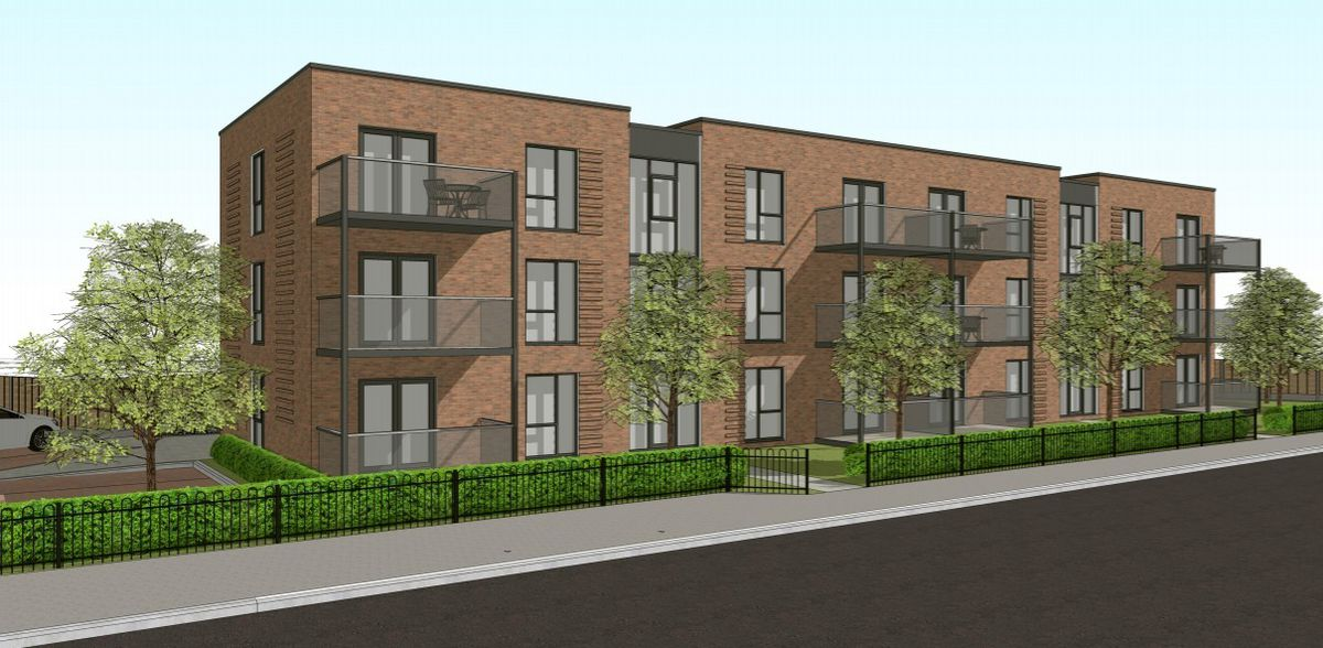 An artist impression of the proposed apartment block on Wednesbury Road, Walsall. PIC: J Mason Associates
