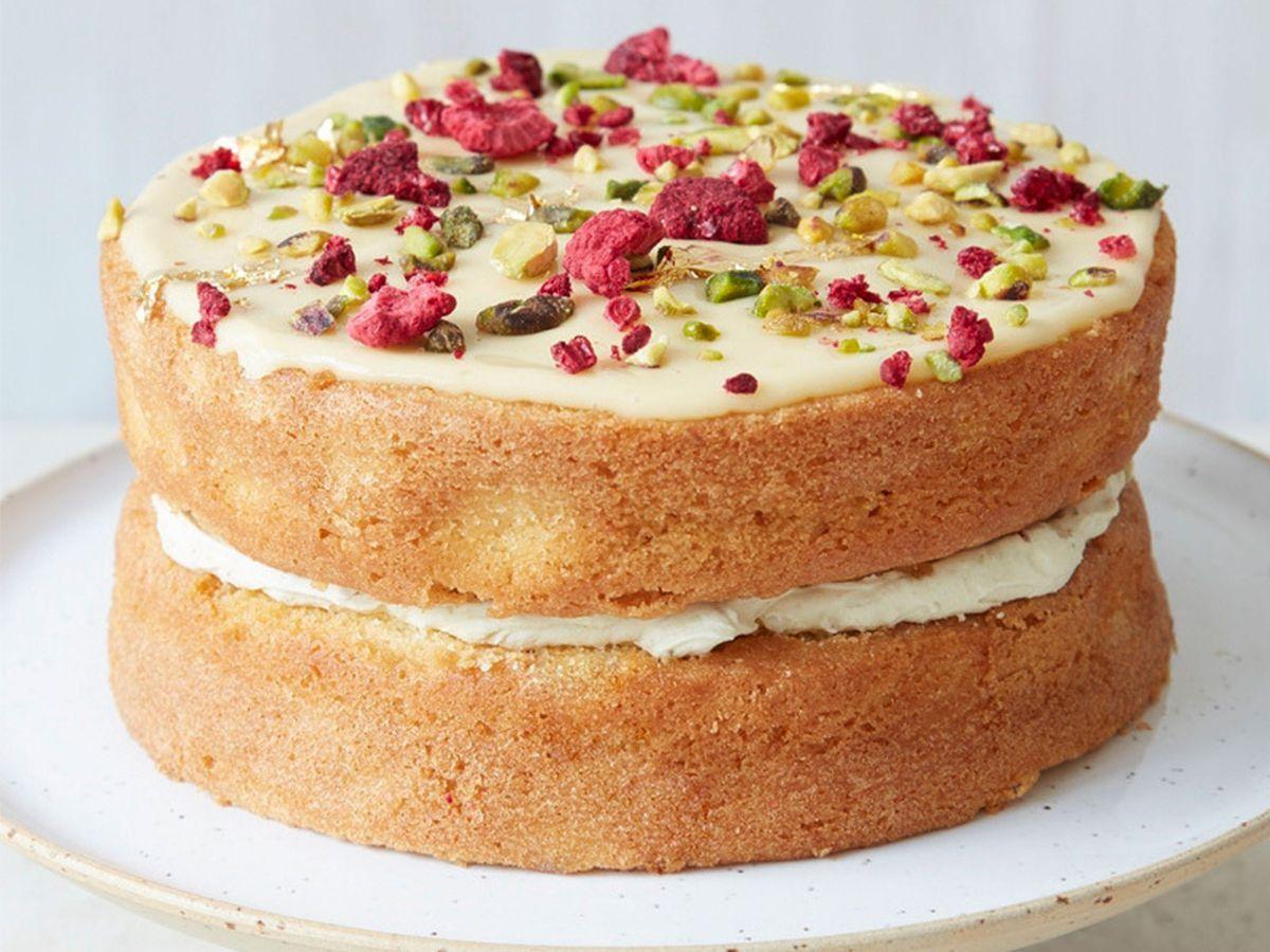 Cutter and Squidge Passionfruit and Pistachio Cake